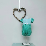9-12 Months Baby Girl Bubble Romper. Infant Wedding Wear. Birthday Romper.