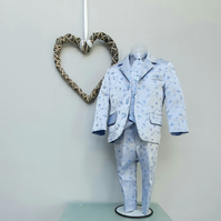Age 2 yr. Boy Page Boy Suit. Toddler Three Piece Tailored Suit. Wedding Wear.