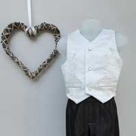 Age 2 yrs. Page Boy Waistcoat, Toddler Party Waistcoat. Infant Wedding Wear