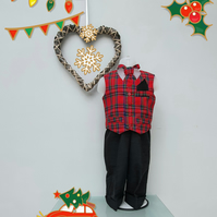 9-12 months Boy Christmas 'Charlie' Suit. Infant Christmas Wear. Page Boy