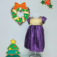9-12 month Christmas Dress, Infant Party Wear,  'Felicity' Occasion Dress.