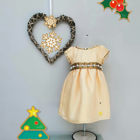 9-12 months Christmas Dress and Knickers, Baby Dress, Kids Clothes