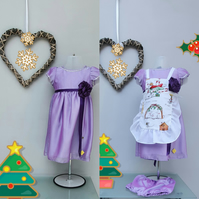9-12 months Christmas Dress, & Apron Special Offer. Birthday Party Dress