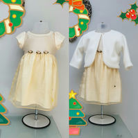 6-9 months Christmas Dress. Child Party 'Felicity' Dress. Infant Wedding Wear.