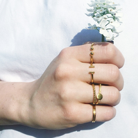 Delgadita by Fedha - skinny designer rings in vermeil, stackable, individual