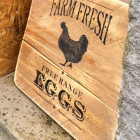 Eggs For Sale Sign - Free Range Chicken Eggs For Sale Sign