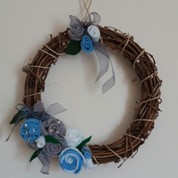 Pale Blue Wreath