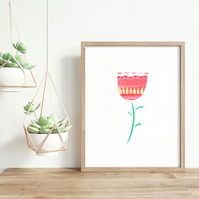 Scandinavian Folk Art Flower Wall Art