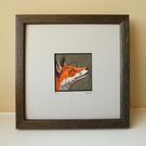 Fox - hand stitched picture