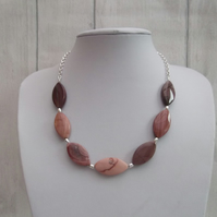 Imperial jasper necklace chunky gemstone