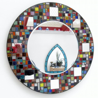 Multi colour  Mosaic mirror bathroom hallway pretty mirror