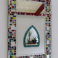 Multi colour  Mosaic mirror