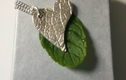 Mint leaf imprinted pendants
