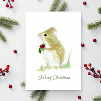 Christmas Mouse A6 cards - Scottish artwork by Morvenna - Merry Christmas card