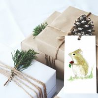 Christmas Gift tags, Wildlife gift tags, Robin gift tags, Mouse gift tags, cute