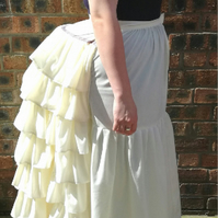 Hand made Victorian bustle cage in cream cotton
