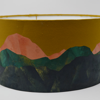 Sunset Mountain Range Lampshade