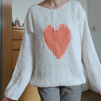 Hand Knit Pullover Love