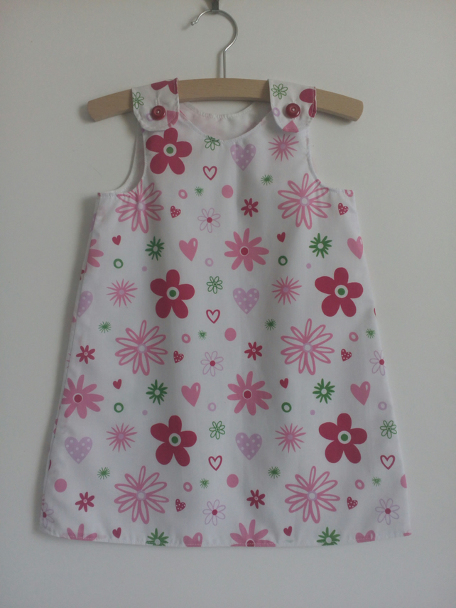 Age 3 years, A line dress, Summer dress, flowers, girls dress