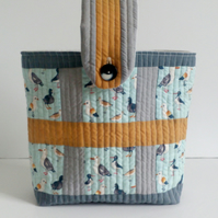 Hobby bag, project bag, quilt as you go bag, small beach bag