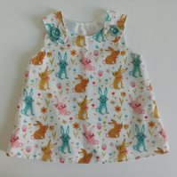 0-3 months, rabbits, Summer dress, A Line dress, new baby, babyware