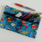Pencil case, zipper pouch, lined cotton bag, back to school, drawing, teensx