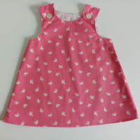 12-18 months, A line dress, pinafore, summer dress, dragons, cotton dress