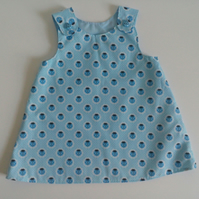 12-18 months, A line dress, pinafore, summer dress, ladybirds,  dress