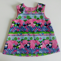 3-6 months, dress, Cow design, A Line dress, pinafore dress, girl's clothing