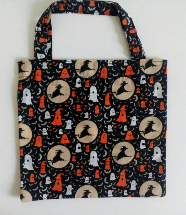 Trick or Treat bag, Halloween bag, witches, ghosts, bag for sweets, tote bag