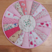 Placemat, Table mat, quilted, patchwork, round, table centrepiece, home decor
