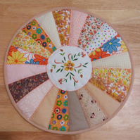 Placemat, Beige, Table mat, quilted, patchwork, table centrepiece, home decor