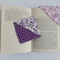 Corner bookmark, floral, bookmark, stocking filler, gift, xmas, teacher, friend