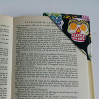 Corner bookmark,  bookmark, stocking filler, gift, book lover, sugar skulls