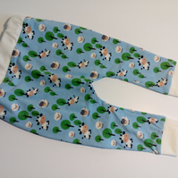 6-12 months, slouchy leggings, Cows, Sheep design, baby trousers