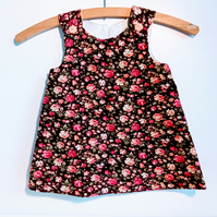 12-18 months, A line dress, pinafore, dress, floral needlecord dress