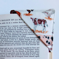 Corner bookmark, cow, bookmark, pocket money gift, teacher, book lover, farmer