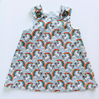 18-24 months, dress, Unicorn, Rainbows, A Line dress, summer dress