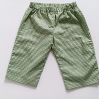 6-9 months, Baby Summer Trousers, Cotton Trousers, Unisex, Summer clothes