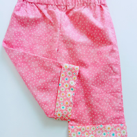 6-9 months, Baby girl, Summer Trousers, Cotton Trousers, Summer clothes, summer