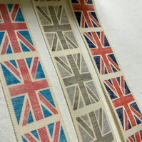 Union Flag Ribbon, grey