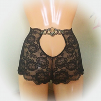 Snake  embroidered underwear. Witchy knickers by Fidditchdesigns