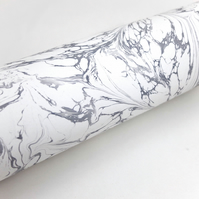 A4 Marbled paper sheet drawn stone neutral grey marble