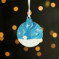 Wintry scene Aurora Christmas decoration