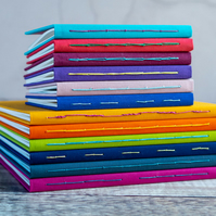 Hand Bound Fabric Journal - Bespoke & Personalised Notebook