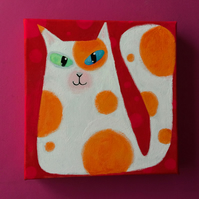 Spottycat Original Painting by Jo Brown perfect for cat lovers...