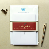 Butterfly Open When Letter Writing Set Hand Designed Stationery Set