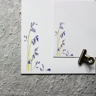 Bluebell Letter Writing Paper Hand Designed By CottageRts