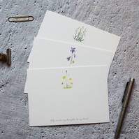 Wildflower Correspondence Cards Hand Designed By CottagRts