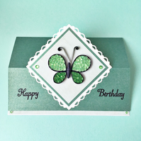 SALE 20% OFF Quilled butterfly birthday card - personalised